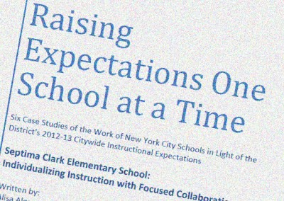 Policy and Practice: Documenting the Effects of the NYCDOE's Citywide Instructional Expectations