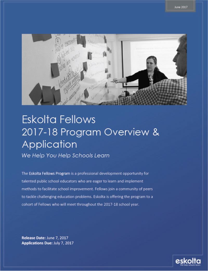 Eskolta Fellows 2017-18 Program Overview & Application