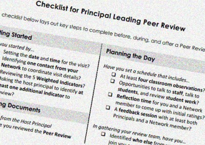 Behind the Scenes with School-to-School Peer Quality Reviews