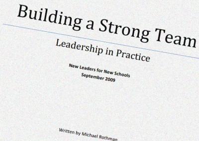 Leadership in Practice: Developing Effective Leadership Strategies across Schools