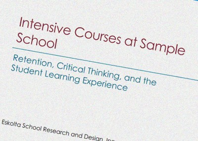 A Study of Student Experiences in Intensive Courses at a NYC High School